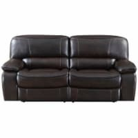 E-Motion Furniture Polyester Fabric Deep Seating Recliner Sofa in Dark Brown - 1