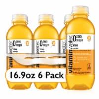 Vitaminwater Zero Sugar Rise Orange Nutrient Enhanced Water Beverage - 6 bottles / 16.9 fl oz