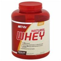 Met-Rx Chocolate Natural Whey Powder - 5 LB