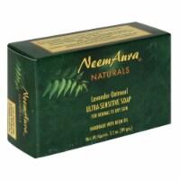 Neem Aura Naturals Lavender Oatmeal Ultra Sensitive Soap - 3.3 oz