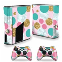 MightySkins XBOX360S-Golden Bubbles Skin for Xbox 360 S Console, Golden Bubbles - 1