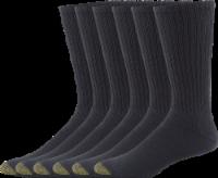 GOLDTOE® Men's Harrington Crew Socks - 6 Pack - Black
