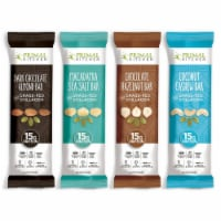 Primal Kitchen - Grass Fed Collagen Protein Bars Variety Pack, ALL 4 Flavors (Pack of 12) - 12 Pack/1.7 Ounce