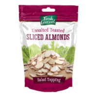 Fresh Gourmet Toasted Sliced Almonds Salad Topping