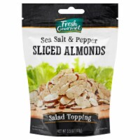 Fresh Gourmet Sea Salt & Cracked Pepper Sliced Almonds Salad Topping
