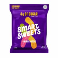 Smart Sweets Gummy Worms, Candy with Low Sugar (4g), Low Calorie, (Pack of 12)