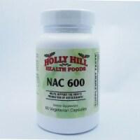 Holly Hill Health Foods, NAC 600 (N-Acetyl Cysteine), 60 Vegetarian Capsules - 60