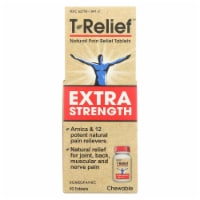 T-Relief - Natural Pain Relief Tablets - Extra Strength - 90 Count - Case of 1 - 90 CT each
