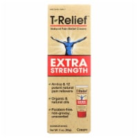 T-Relief - Natural Pain Relief Cream - Extra Strength - 3 oz. - Case of 1 - 3 OZ each