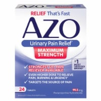 Azo Urinary Pain Relief Maximum Strength Tablets 24 Count
