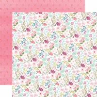 Flora No. 3 Double-Sided Cardstock 12 X12 -Bright Small Floral - 1