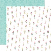 Flora No. 3 Double-Sided Cardstock 12 X12 -Bright Stems - 1
