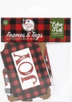 Echo Park Cardstock Ephemera 33/Pkg-Frames & Tags, A Lumberjack Christmas - 1