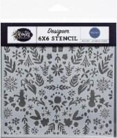 Carta Bella Stencil 6 X6 -Winter Wonderland - 1