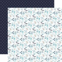 Winter Magic Double-Sided Cardstock 12 X12 -Frozen Floral - 1