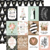 Our Wedding Double-Sided Cardstock 12 X12 -3 X4  Journaling Cards - 1