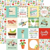 Farm To Table Double-Sided Cardstock 12 X12 -3 X3  Journaling Cards - 1