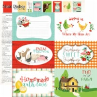 Farm To Table Double-Sided Cardstock 12 X12 -6 X4  Journaling Cards - 1