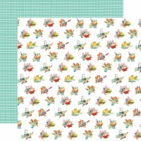 Farm To Table Double-Sided Cardstock 12 X12 -Floured Flowers - 1