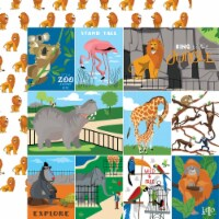 Zoo Adventure Double-Sided Cardstock 12 X12 -Multi Journaling Cards - 1