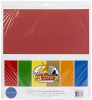 Carta Bella Double-Sided Solid Cardstock 12 X12  6/Pkg-Zoo Adventure, 6 Colors - 1