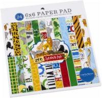 Carta Bella Double-Sided Paper Pad 6 X6  24/Pkg-Zoo Adventure, 12 Designs/2 Each - 1