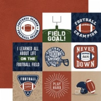 Football Double-Sided Cardstock 12 X12 -4 X4  Journaling Cards - 1