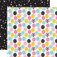Magical Birthday Girl Double-Sided Cardstock 12 X12 -Balloons - 1