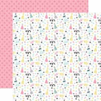 Magical Birthday Girl Double-Sided Cardstock 12 X12 -Party Hats - 1