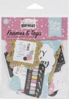 Echo Park Cardstock Ephemera 33/Pkg-Frames & Tags, Magical Birthday Girl - 1