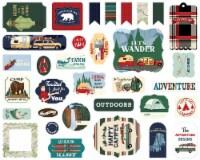 Carta Bella Cardstock Ephemera 33/Pkg-Icons, Outdoor Adventures - 1