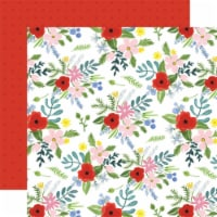 Flora No. 4 Double-Sided Cardstock 12 X12 -Bold Large Floral - 1