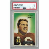 Athlon Sports CTBL-024928 Frank Gifford New York Giants 1955 Bowman Football Card No.7- PSA G - 1