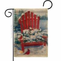Breeze Decor BD-WT-G-114193-IP-DB-D-US18-WA 13 x 18.5 in. Red Chair in Winter Burlap Wonderla