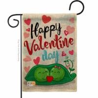 Breeze Decor BD-VA-G-101054-IP-DB-D-US17-BD 13 x 18.5 in. My Sweet Peas Valentine Burlap Spri - 1