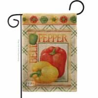 Breeze Decor BD-VG-G-117040-IP-DB-D-US17-AM 13 x 18.5 in. Bell Pepper Burlap Food Vegetable I