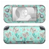 DecalGirl NSL-MERKITTENAQUA Nintendo Switch Lite Skin - Merkittens with Pearls Aqua - 1