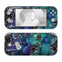 DecalGirl NSL-PCGARDEN Nintendo Switch Lite Skin - Peacock Garden - 1