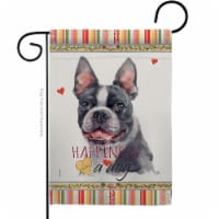 Breeze Decor G160159-BO 13 x 18.5 in. Dog Boston Terrier Happiness Double-Sided Decorative Ve