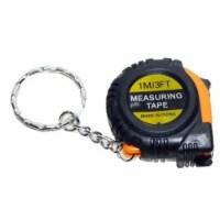 Wideskall 3 Feet 1/4  inch Keychain Mini Pocket Size SAE & Metric Measuring Tape - 1
