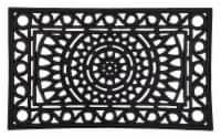 Entryways Sunburst Rubber Doormat - Black