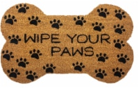 Entryways Wipe Y9our Paws Doormat - Brown