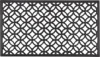 Entryways Circle Chains Recycled Rubber Doormat - Black