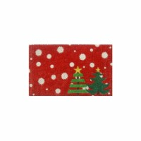 Entryways P2040 Christmas Trees Non Slip Coir Doormat - 1