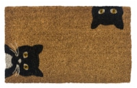 Entryway Peeping Cats Coir Doormat - Tan/Black
