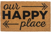 Entryways Happy Place Doormat - Brown