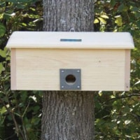 Horizontal Winter Roost Safe Bird House for Protection from Predators and Cold Weather - 1