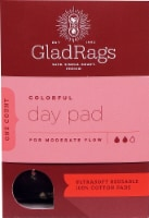 GladRags Colorful Reusable Cotton Day Pad for Moderate Flow