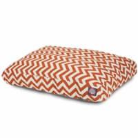 MajesticPet 788995500223 29 x 36 in. Zig Zag Rectangle Pet Bed, Burnt Orange