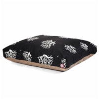 MajesticPet 788995504078 42 x 50 in. Coral Rectangle Pet Bed, Black